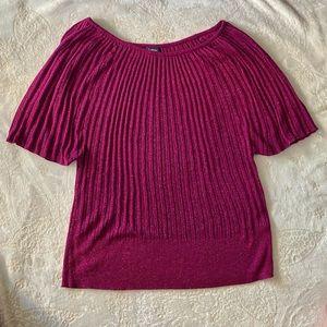 Reitmans Size 2X Purple Short Sleeve Sweater